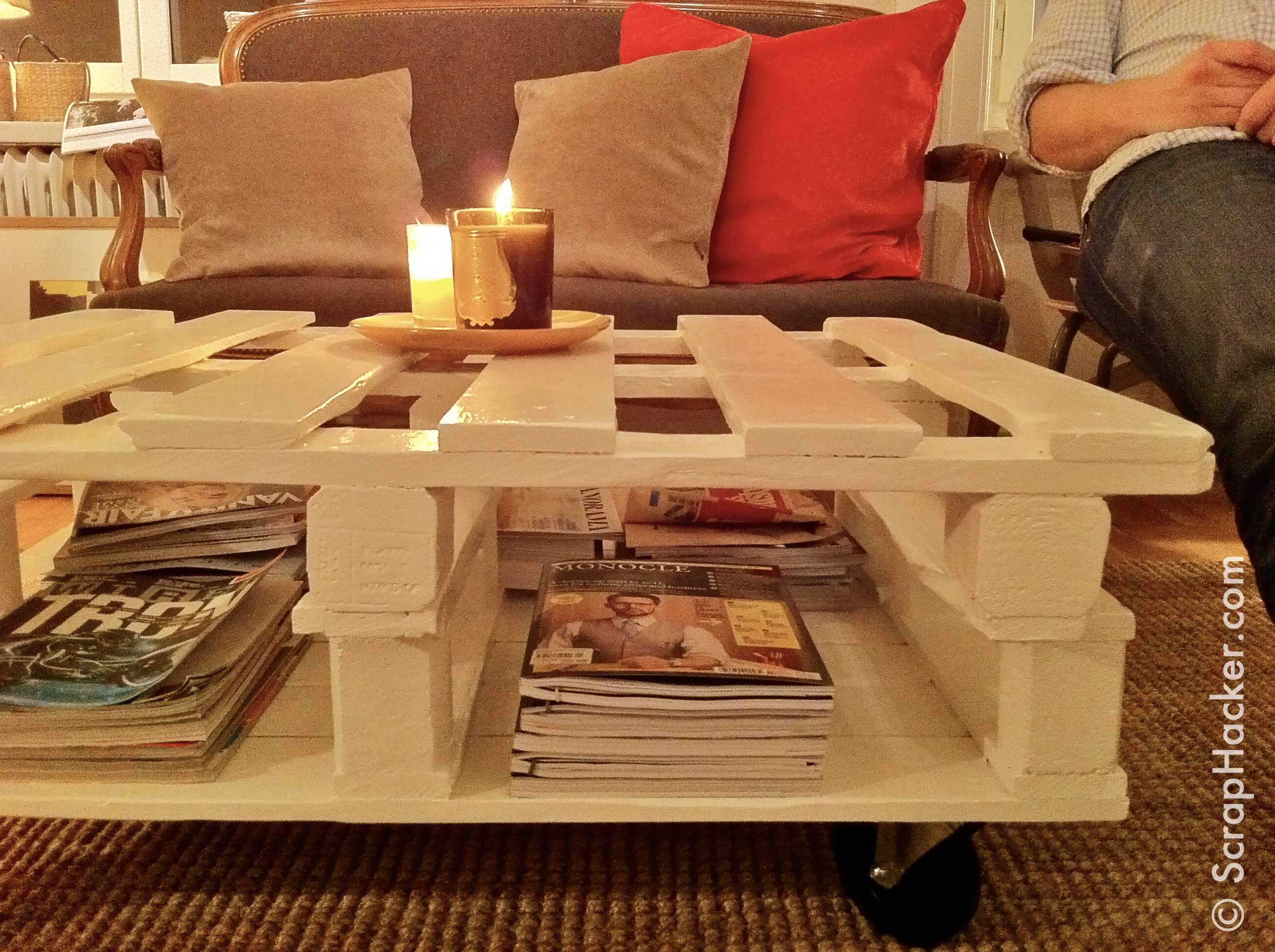 D i y pallet coffee table tutorial - Mesas para sofa ...