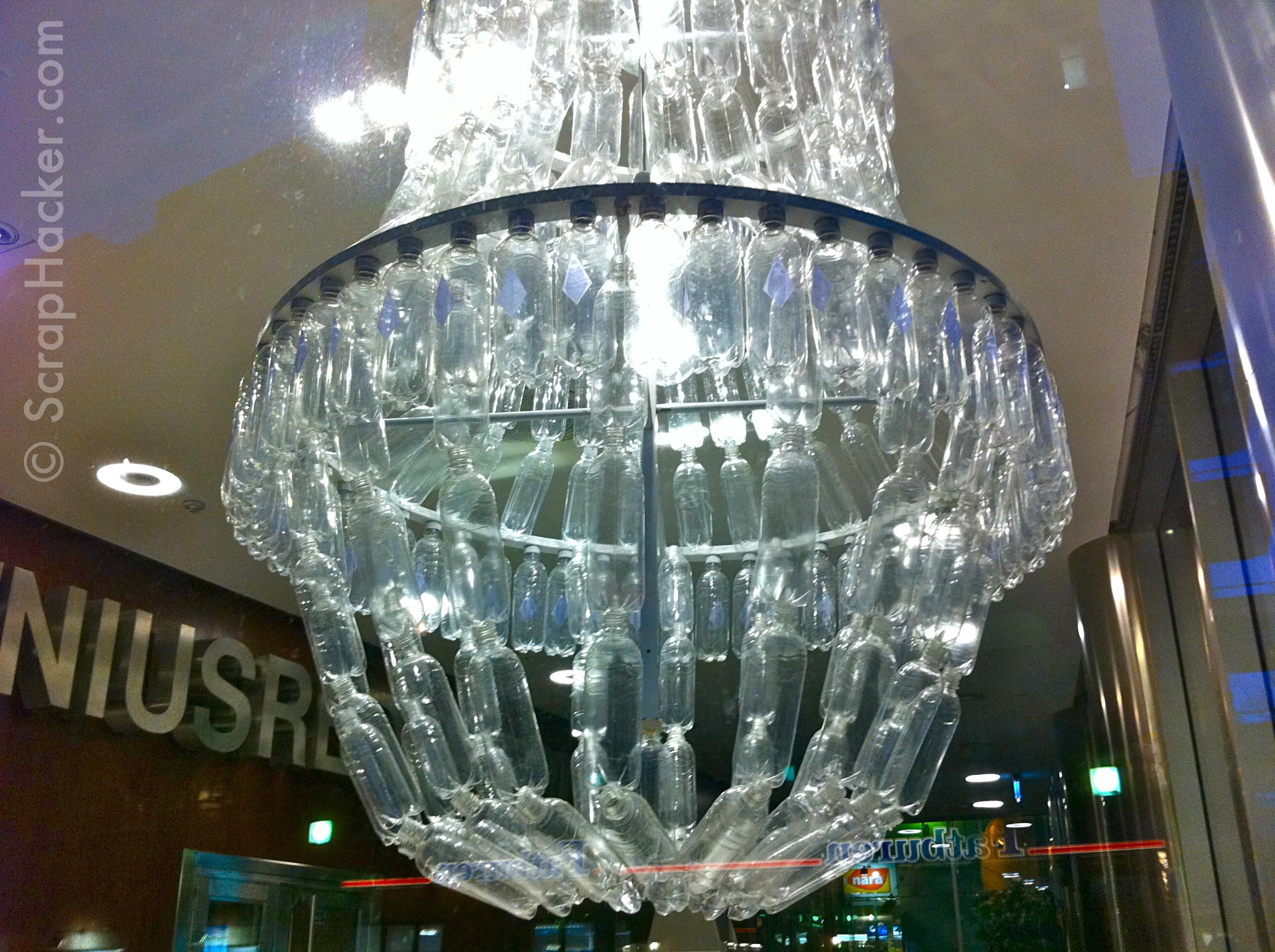 Genius in a bottle the amazing plastic bottle chandelier share aloadofball Choice Image