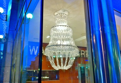 Plastic Bottle Chandelier (1)