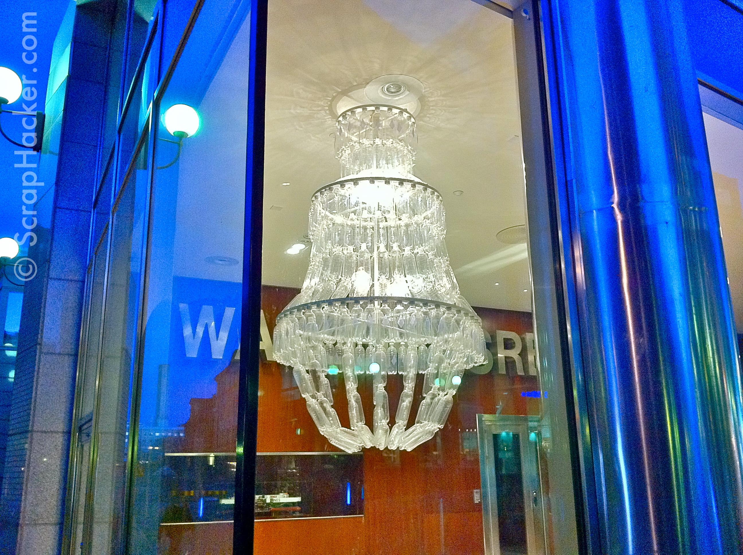 How to make a plastic bottle chandelier chandelier designs genius in a bottle the amazing plastic chandelier arubaitofo Images