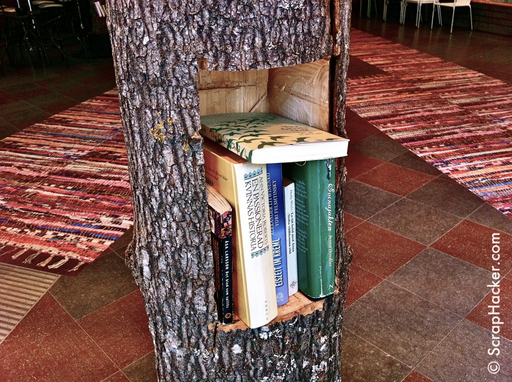 funky tree trunk shelf a great scraphack