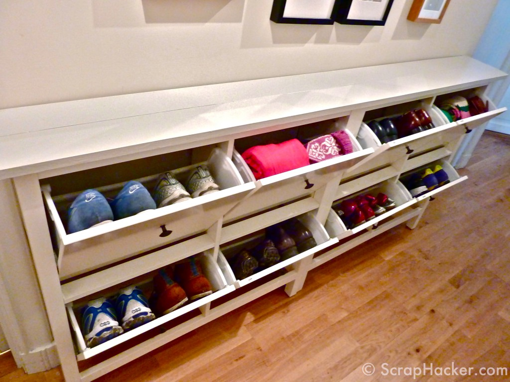 The bespoke ikea hemnes shoe cabinet Living room shoe storage ideas