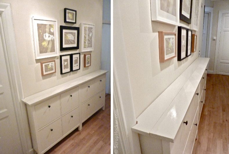 The bespoke ikea hemnes shoe cabinet for Petit meuble de couloir