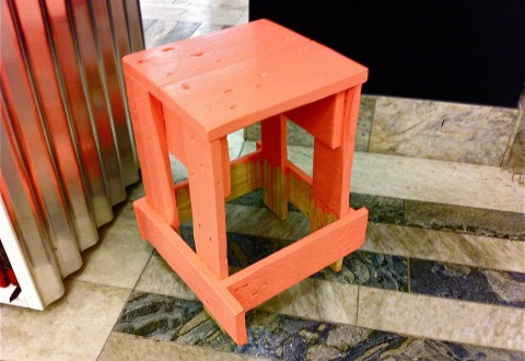Pink Stool