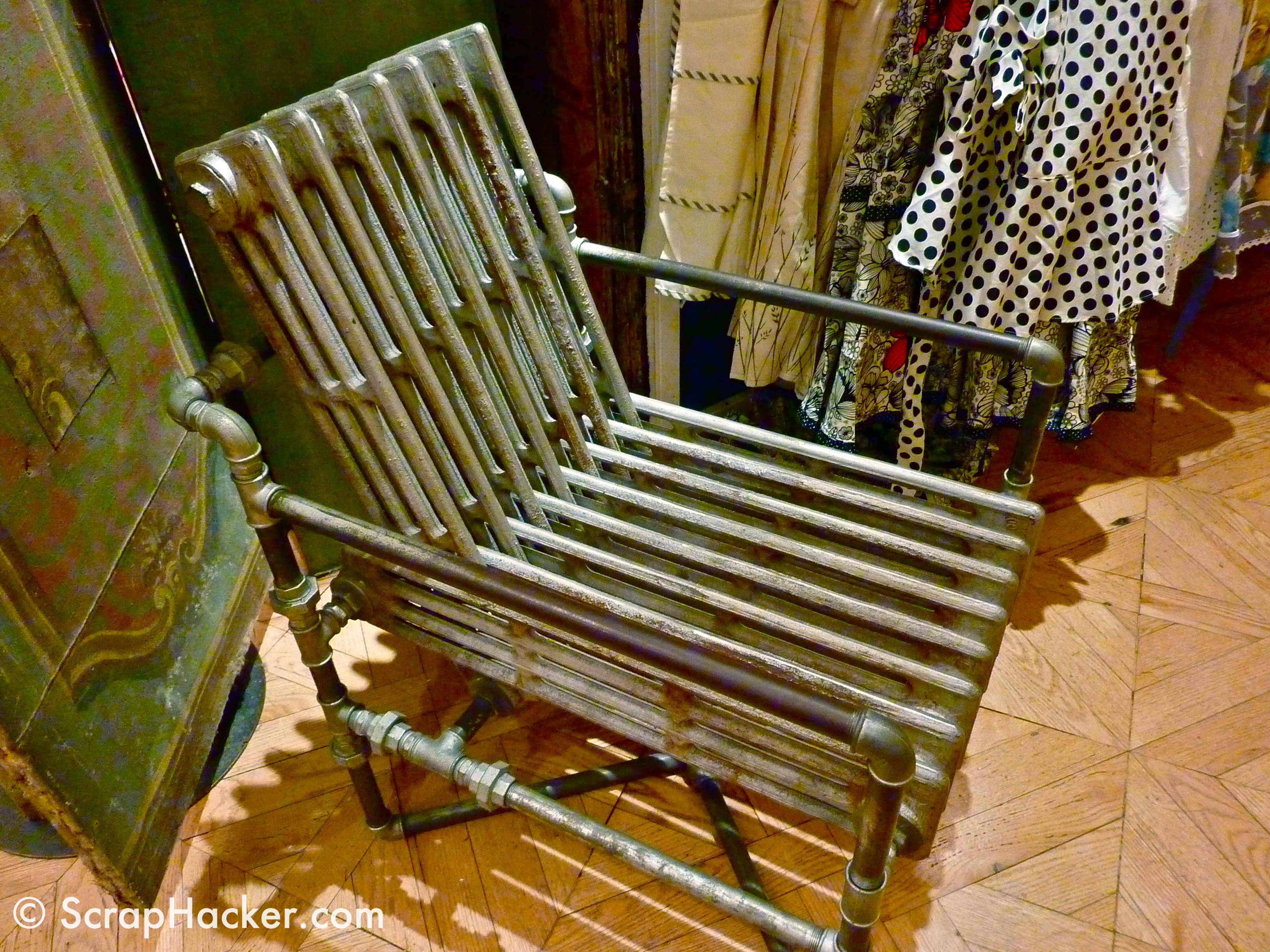 shining inspiration soccer furniture. This up cycled radiator chair was spotted  Anthropologie s NYC Rockefeller store A great whack hack Although my metal working skills aren t Upcycled Scrap Radiator Chair