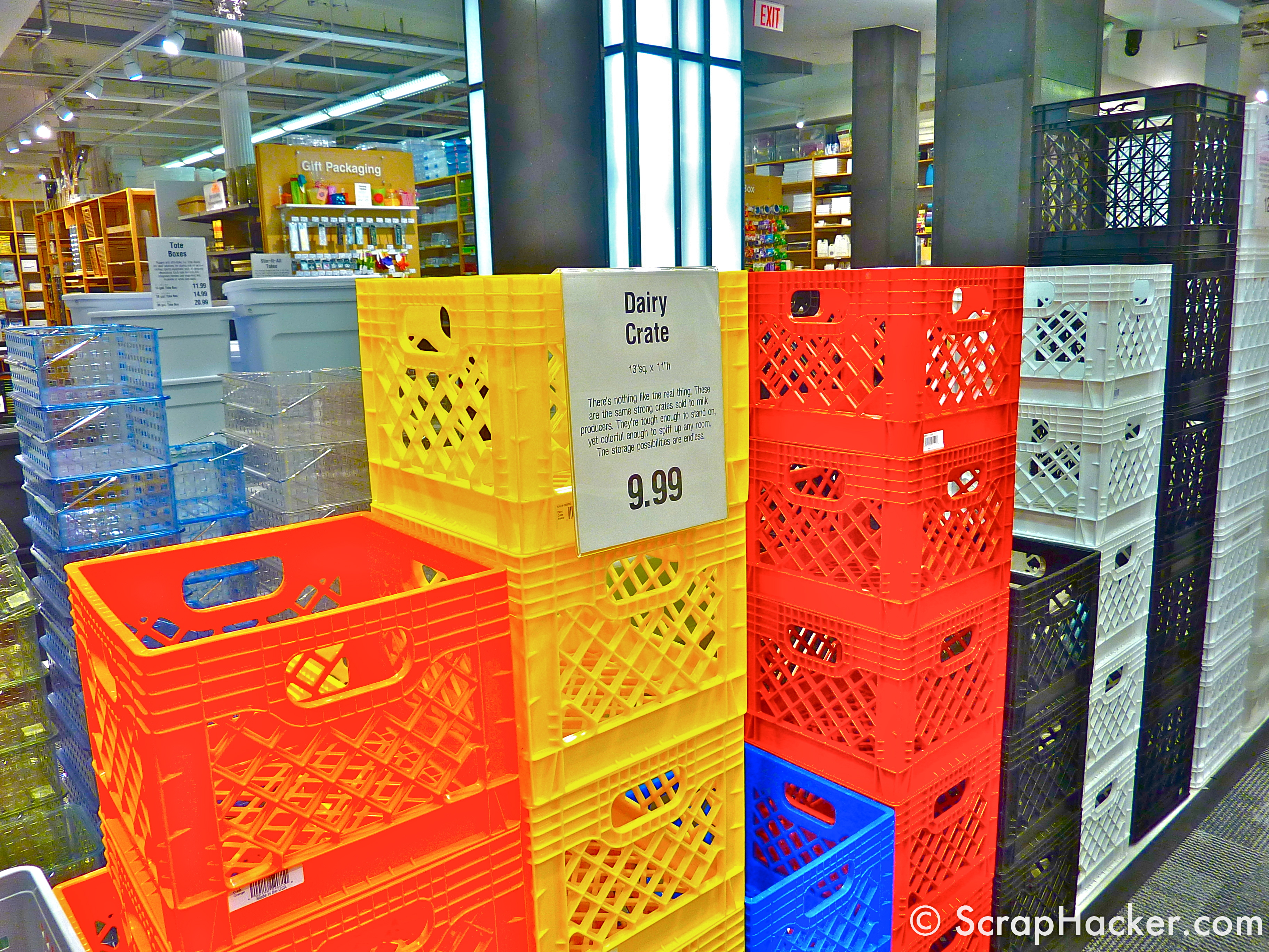 The Milk Crate Cabinet Some DIY Inspiration