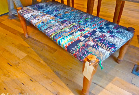Pleated yarn bench