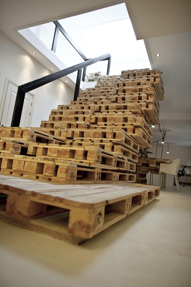 Pallet Office Staircase