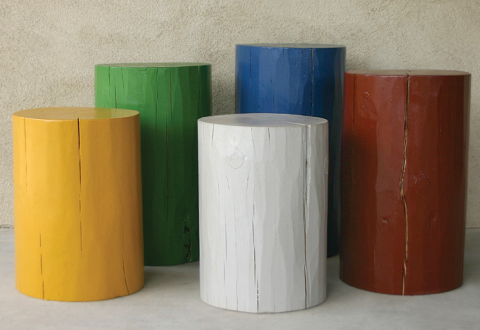 Log Stools by Pfeifer Studio