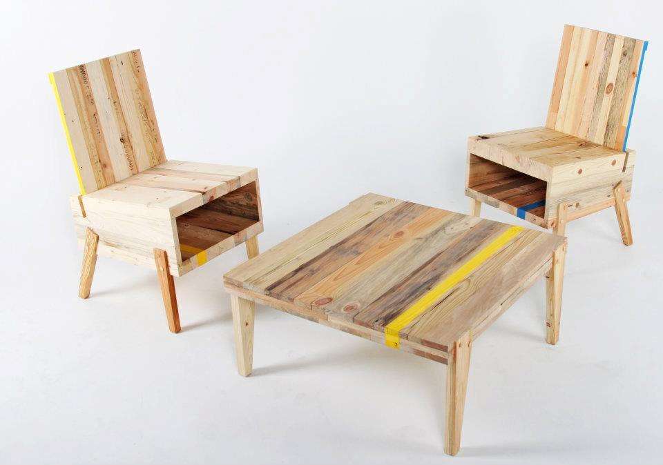 Diy wood furniture at the galleria for Recycling furniture decorating ideas