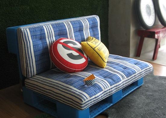 Blue Pallet Sofa