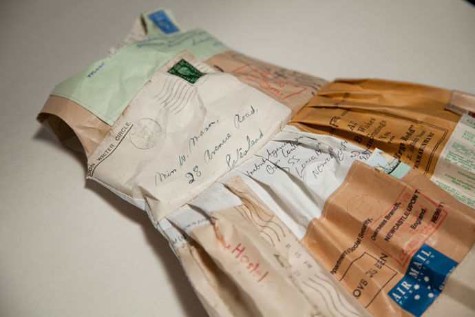 Paper Letter Dress by Jennifer Collier