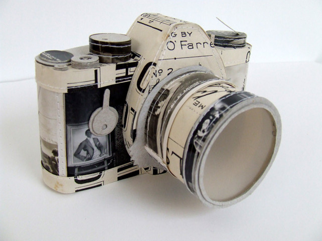 paper art camera by Jennifer Collier
