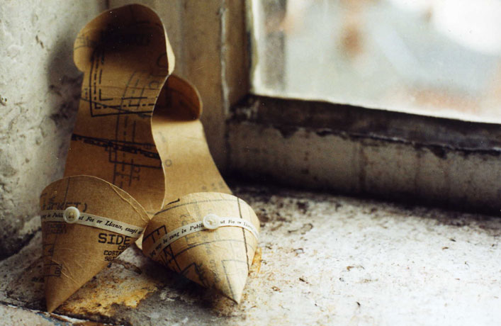 Paper art shoe by Jennifer Collier