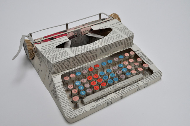 Paper Art Typewriter by Jennifer Collier