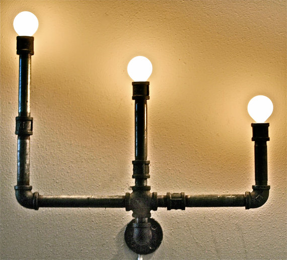 Pipe Chandelier by Stella Bleu Designs