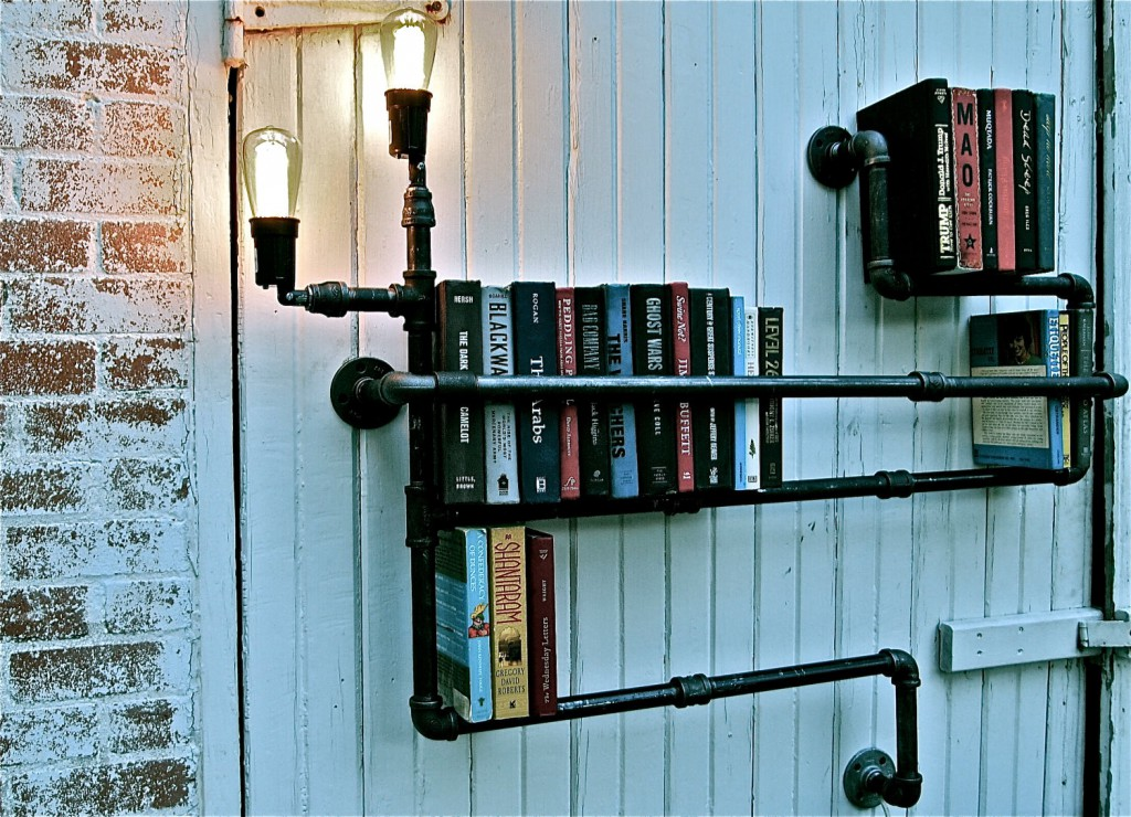 Stella Bleu Designs - Pipe Shelf with lighting