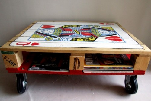 Queen pallet coffee table