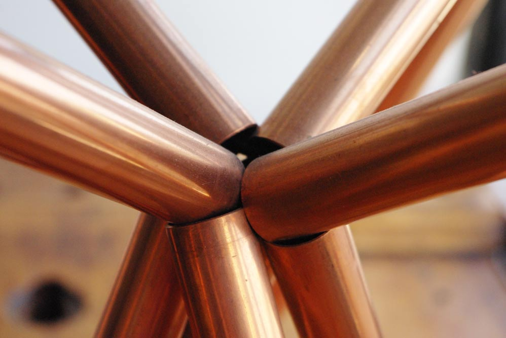 Detail from the Ultra Conductive Table by Paul Loebach