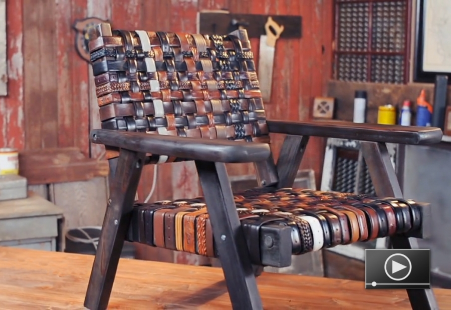 fasten your seat belts diy recycled belt chair project
