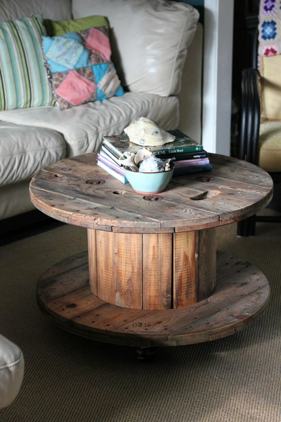top 20 d i y cool cable spool coffee table hack ideas. Black Bedroom Furniture Sets. Home Design Ideas