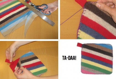 DIY Felted Pot Holder