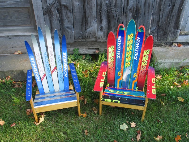 adirondack ski chair plan