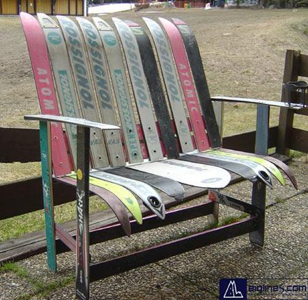 DIY Ski Bench