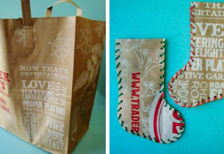 Recycled Paper Bag Stocking