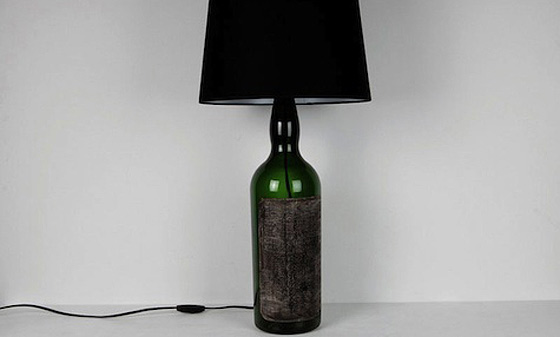 Bottle lamp diy top looks ideas scraphacker for How to make wine bottle lights