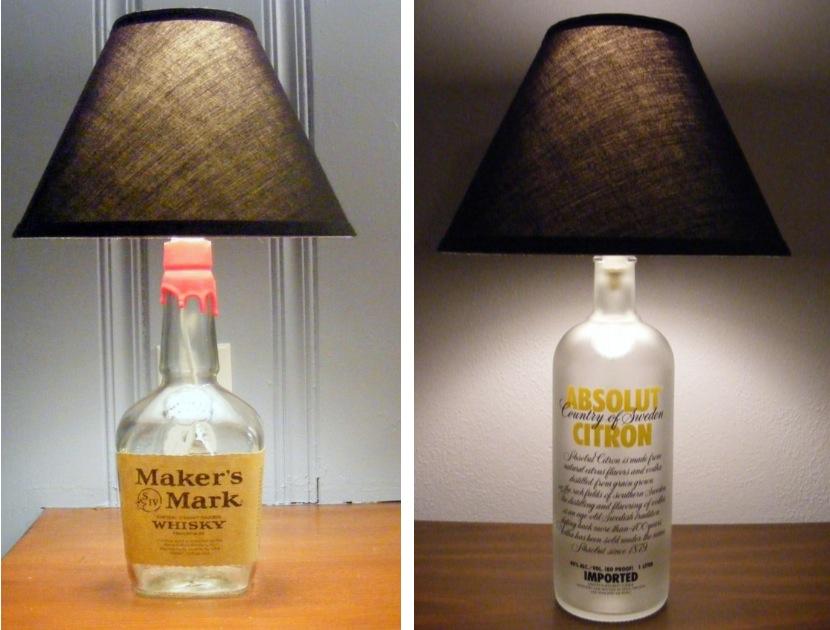 glass bottle lighting. lightheaded etsy shop glass bottle lighting t