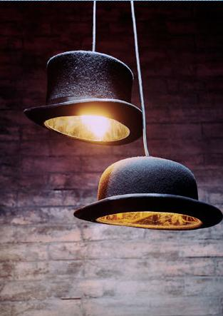 Hats off to the bowler hat pendant light diy inspiration bowler hat table lamp aloadofball Images