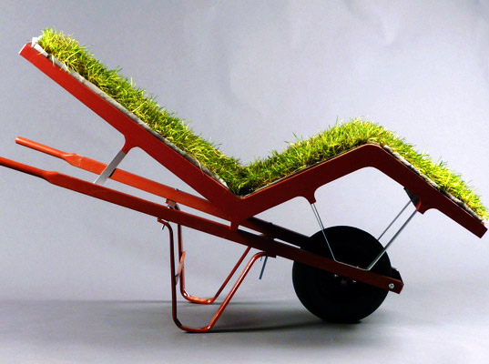 D i y hack n roll wheelbarrow furniture for Sillas originales