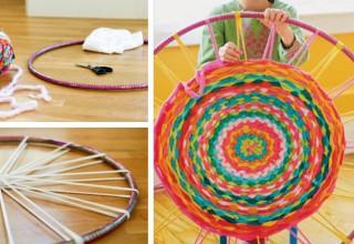 Hula Hoop Rug DIY