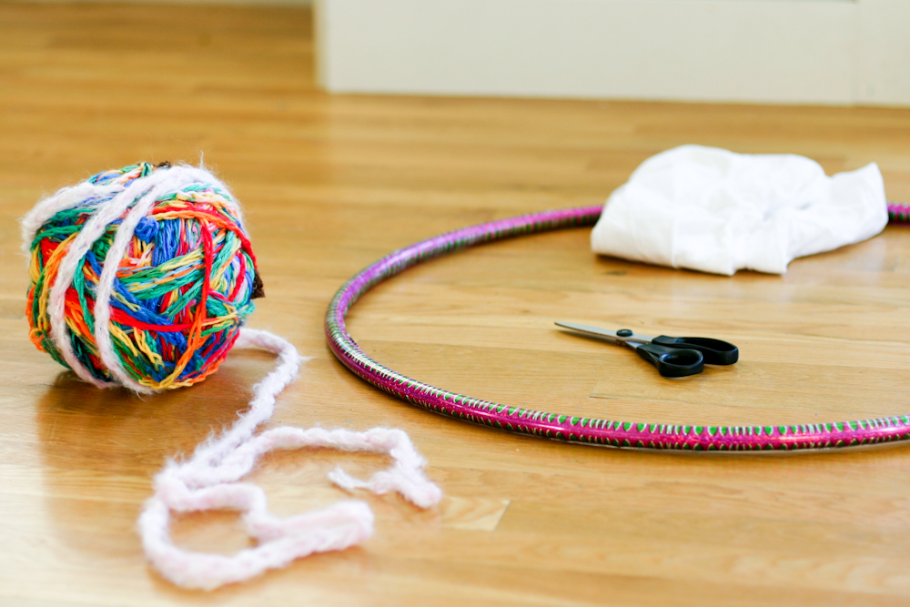 Hula hoop DIY - Make a rug from