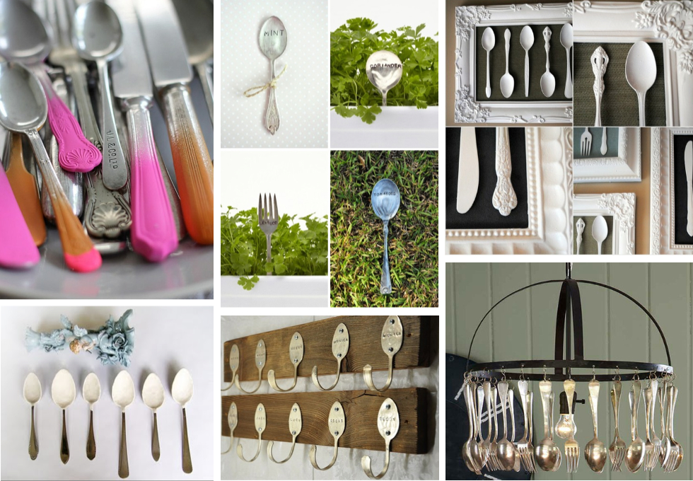 Upcycle cutlery - Top10 creative DIY ideas