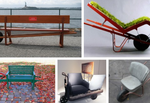 Wheel barrow furniture