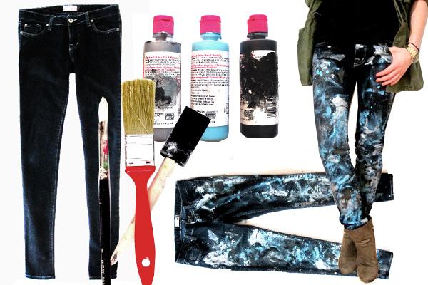 Как красить штаны в домашних условиях