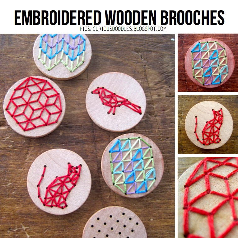 Embroidered wooden brooch ScrapHacker : embroidered brooches from scraphacker.com size 765 x 765 jpeg 235kB