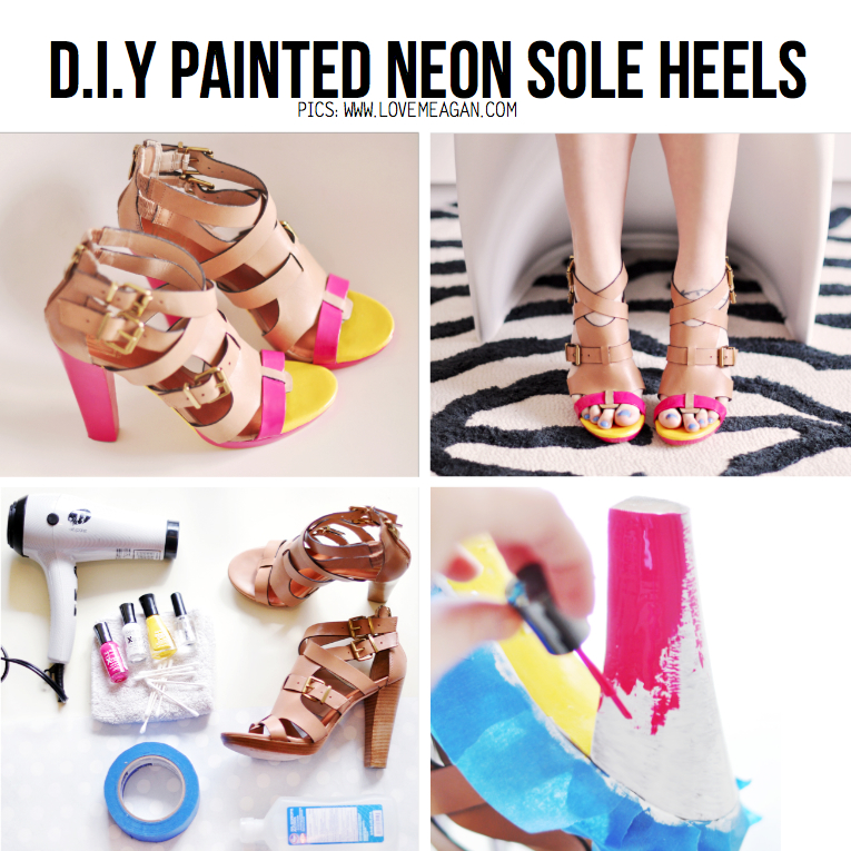 neon diy 5 diy revamping ideas ForDiy Shoes With Nail Polish