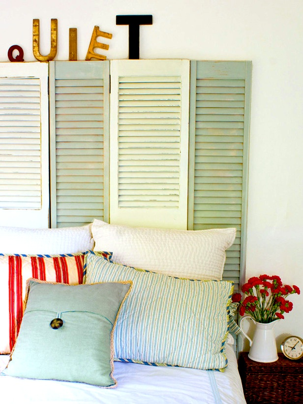 Upcycled Window Shutters - Diy Inspiration & Tutorials