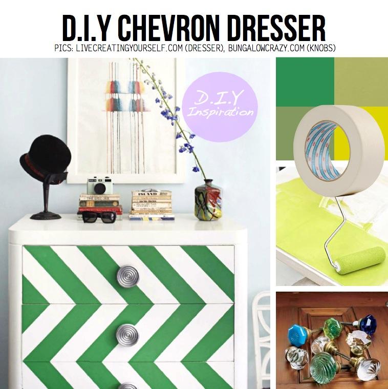 masking tape paint chevron painted furniture