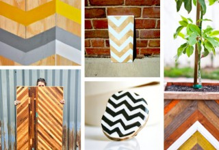 Chevron on wood