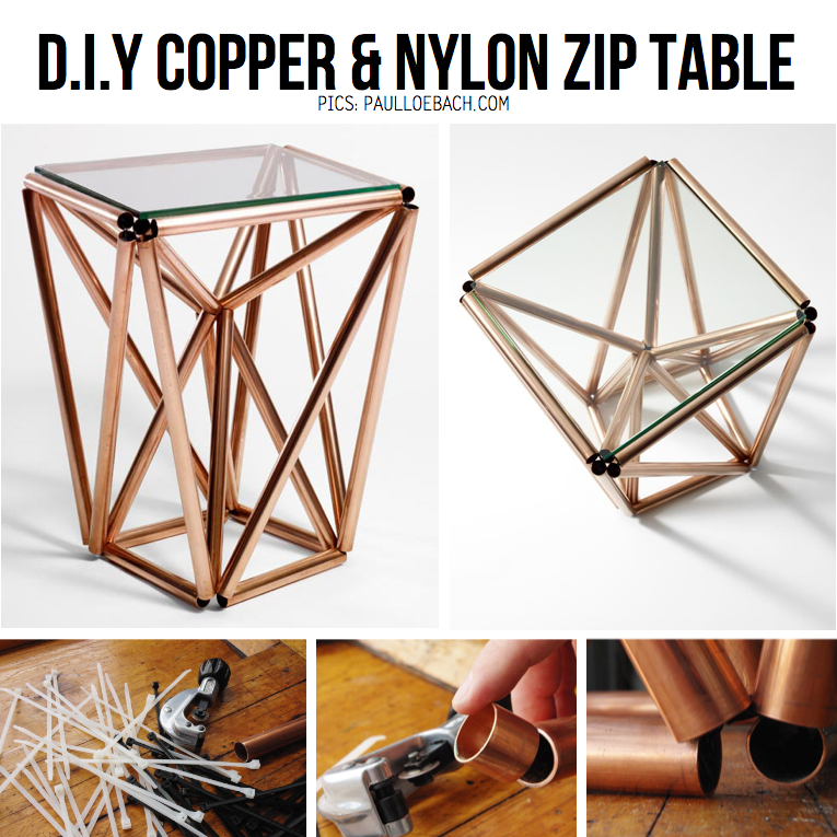 Copper tube diy inspiration tutorials for Table y copper tube