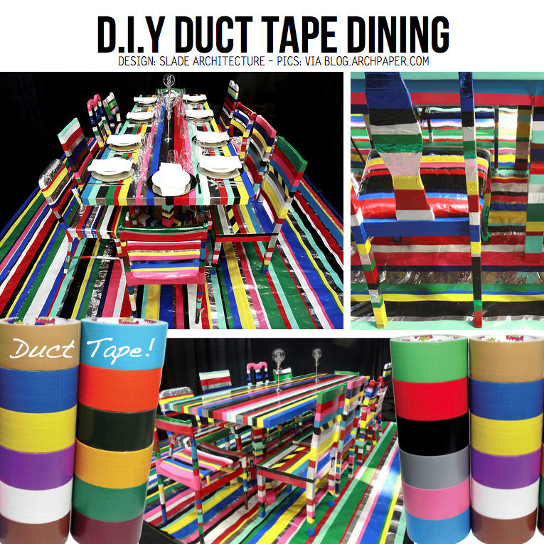 DIY Duct Tape Dining Furniture ...