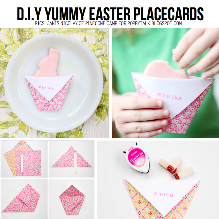 DIY Yummy Easter Placecards By Janis Nicolay Of Pinecone Camp For