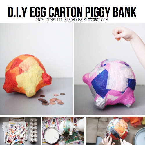 Egg carton diy 10 awesome d i y ideas tutorials for How to make a piggy bank you can t open