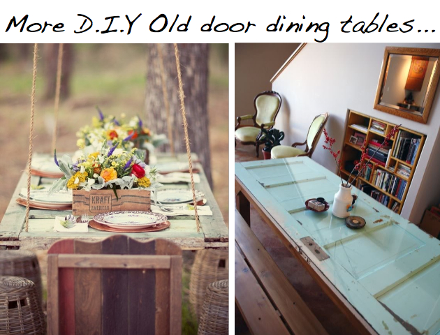 10 diy ideas to give new life to old doors - Make a table from an old door ...