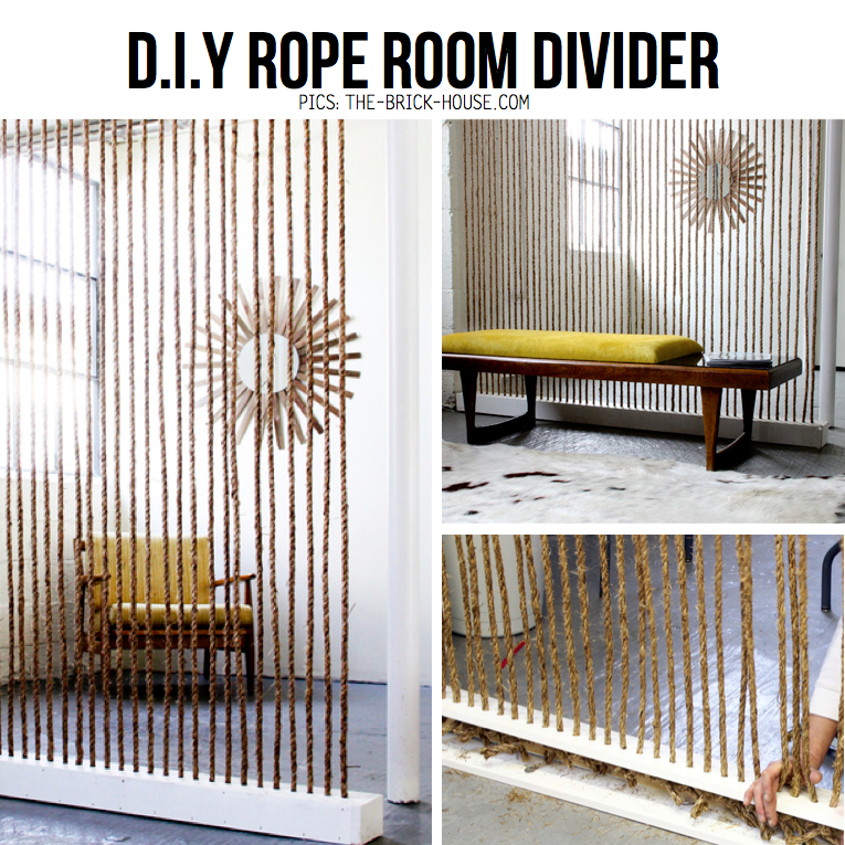 Diy rope hacks diy ideas tutorials for How to make a rope wall