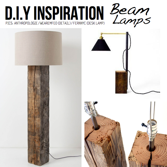 DIY Ideas amp Tutorials for Salvaged Wooden Beams : beam lamps from scraphacker.com size 635 x 635 jpeg 322kB